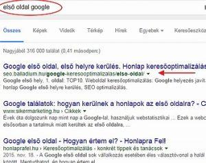 elso-googleoldal